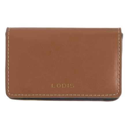 Lodis Mini Card Case - Leather (For Women) in Brown - Closeouts