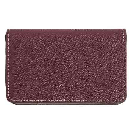 Lodis Mini Card Case - Leather (For Women) in Red - Closeouts