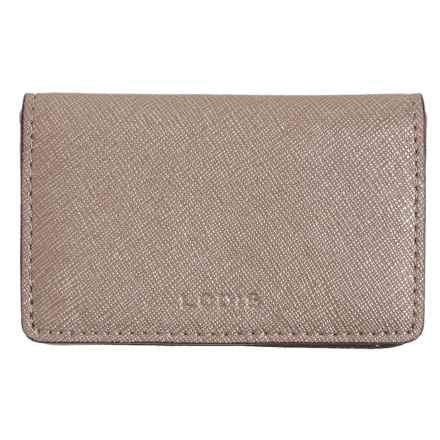 Lodis Mini Card Case - Leather (For Women) in Tan - Closeouts