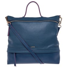 Lodis Paige Leather Messenger Bag (For Women) in Indigo - Closeouts