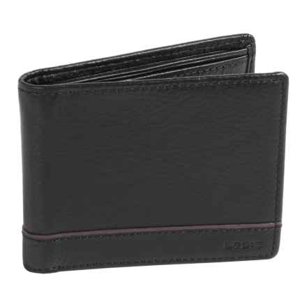 Lodis RFID Bi-Fold Wallet - Leather in Black - Closeouts