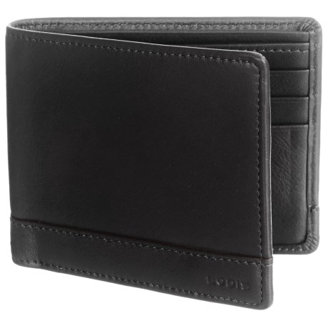 Lodis RFID Bi-Fold Wallet - Leather in Black