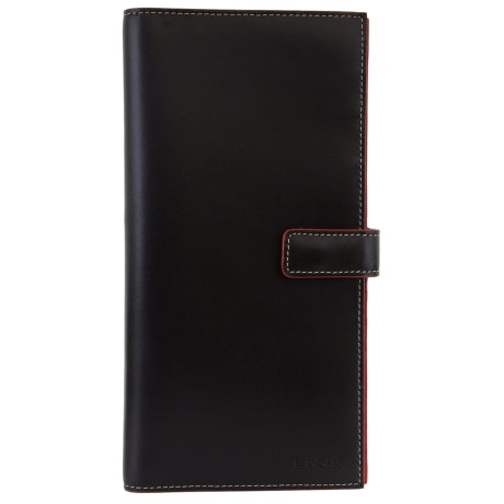 Lodis Ryan Leather Travel Wallet (For Women) in Black