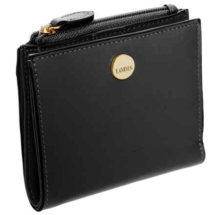 Lodis Smooth Leather French Bi-Fold Wallet - RFID Pocket (For Women) in Black - Closeouts