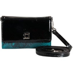 Lodis Ventura Jules Crossbody Wallet - Leather (For Women) in Peacock
