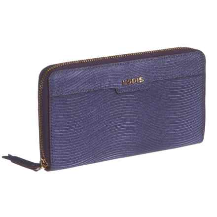 Lodis Zip-Around RFID Wallet - Italian Leather (For Women) in Purple - Closeouts