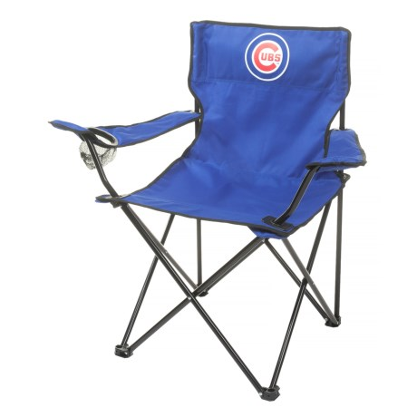 Logo Brands Cubs Quad Chair in Chicago Cubs
