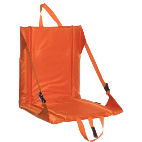 Logo Brands Plain Orange Stadium Seat in Orange