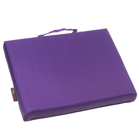 Logo Brands Plain Purple Bleacher Cushion in Purple