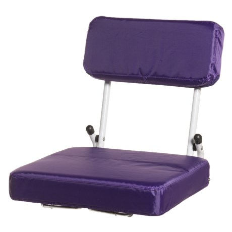 Logo Brands Plain Purple Hardback Stadium Seat in Purple
