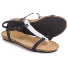 Lola Sabbia for Eric Michael Lotus Strappy Sandals - Leather (For Women) in Black/White - Closeouts