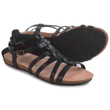 Lola Sabbia for Eric Michael Miami Sandals - Leather (For Women) in Black - Closeouts