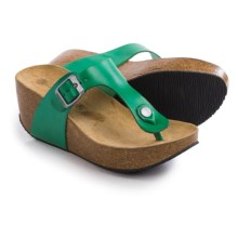 Lola Sabbia For Eric Michael Mila Platform Sandals - Leather (For Women) in Green - Closeouts