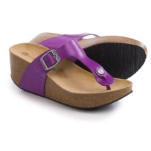 Lola Sabbia For Eric Michael Mila Platform Sandals - Leather (For Women) in Purple - Closeouts