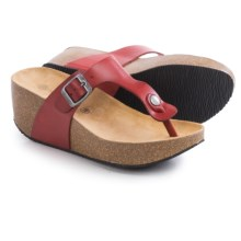 Lola Sabbia For Eric Michael Mila Platform Sandals - Leather (For Women) in Red - Closeouts