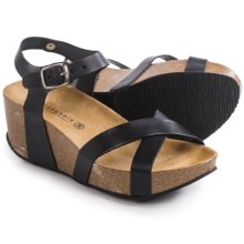 Lola Sabbia for Eric Michael Veda Platform Sandals - Leather (For Women) in Black - Closeouts