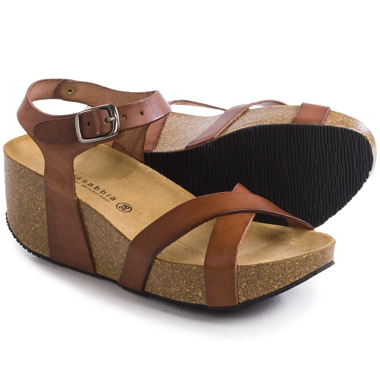 Lola Sabbia For Eric Michael Veda Platform Sandals For