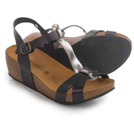 Lola Sabbia Libby Sandals (For Women) in Black/Steel - Closeouts