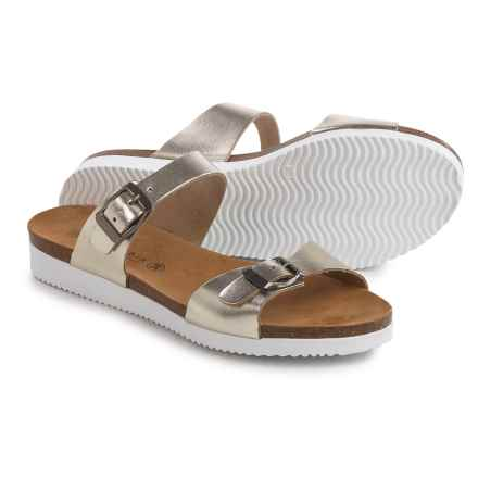 Lola Sabbia Natalie Sandals - Leather (For Women) in Gold - Closeouts