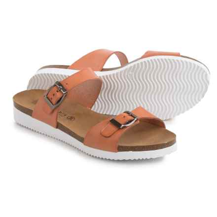 Lola Sabbia Natalie Sandals - Leather (For Women) in Orange - Closeouts