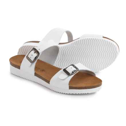 Lola Sabbia Natalie Sandals - Leather (For Women) in White Lace - Closeouts