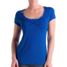 Lole 2nd Skin Cardio Shirt - UPF 50+, Short Sleeve (For Women) in Persian Blue - Closeouts