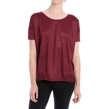 Lole Aasi Shirt - Short Sleeve (For Women) in Cordovan - Closeouts