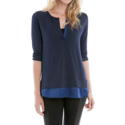 Lole Abby Tunic Shirt - 3/4 Sleeve (For Women) in Amalfi Blue - Closeouts