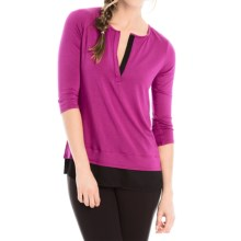 Lole Abby Tunic Shirt - Lenzing Modal®, 3/4 Sleeve (For Women) in Wild Aster - Closeouts