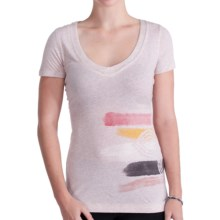 Lole Abigal Graphic Top - Organic Cotton, Short Sleeve (For Women) in Nude Mix - Closeouts