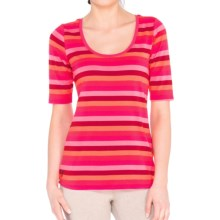 Lole Ada Shirt - UPF 50+, Elbow Sleeve (For Women) in Chillies Multi Stripe - Closeouts