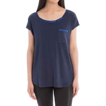 Lole Aidan Shirt - Relaxed Fit, Short Sleeve (For Women) in Amalfi Blue - Closeouts