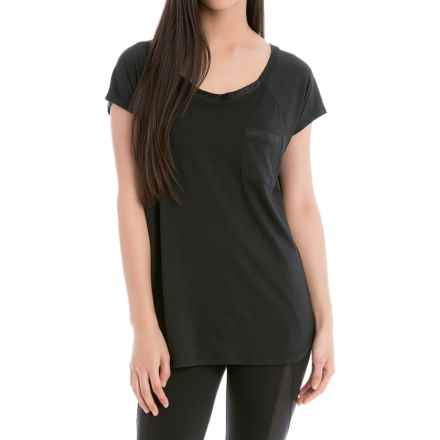 Lole Aidan Shirt - Relaxed Fit, Short Sleeve (For Women) in Black - Closeouts