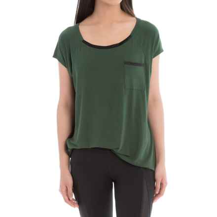 Lole Aidan Shirt - Relaxed Fit, Short Sleeve (For Women) in Forest - Closeouts