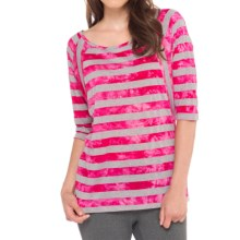 Lole Alicia Shirt - Scoop Neck, Dolman Elbow Sleeve (For Women) in Mulberry Stripe - Closeouts