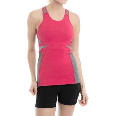 Lole Alysa Racerback Tank Top - UPF 30+, Built-In Sports Bra (For Women) in Strawberry Pop - Closeouts