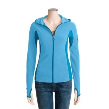 Lole Amuse Zip-Up Shirt - UPF 50+, Hooded, Long Sleeve (For Women) in Sky/Aqua - Closeouts
