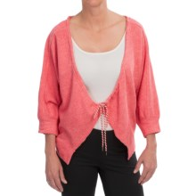 Lole Amy Cardigan Sweater - Organic Cotton, UPF 50+, Elbow Sleeve (For Women) in Campari Heather - Closeouts