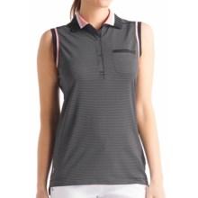 Lole Annika Stretch Golf Tech Polo Shirt - Sleeveless (For Women) in Black Air 49 - Closeouts