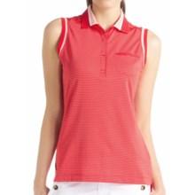 Lole Annika Stretch Golf Tech Polo Shirt - Sleeveless (For Women) in Pomegranate Air 49 - Closeouts