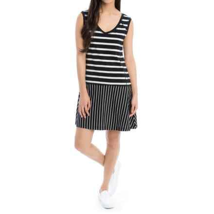 Lole Arleta Dress - Sleeveless (For Women) in Black Stripe - Closeouts