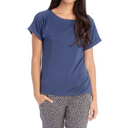 Lole Aster T-Shirt - Modal, Short Sleeve (For Women) in Twilight Blue - Closeouts
