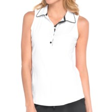 Lole Astor Polo Shirt - UPF 50+, Sleeveless (For Women) in White - Closeouts