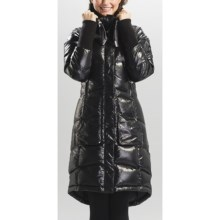 Lole Atelier Long Down Jacket - 600 Fill Power, Removable Sleeves (For Women in Black - Closeouts
