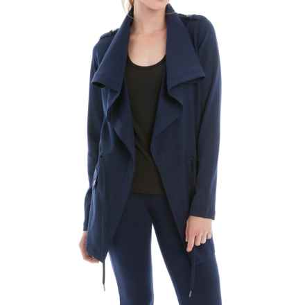 Lole Barbara Draped Front Jacket (For Women) in Amalfi Blue - Closeouts
