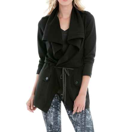 Lole Barbara Draped Front Jacket (For Women) in Black - Closeouts