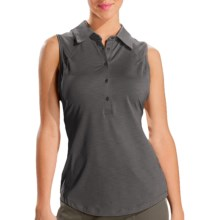 Lole Beat Polo Shirt - UPF 50+, 2nd Skin Heather, Sleeveless (For Women) in Storm - Closeouts