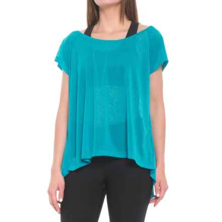 Lole Beth Shirt - Scoop Neck, Short Sleeve (For Women) in Artic Blue - Closeouts