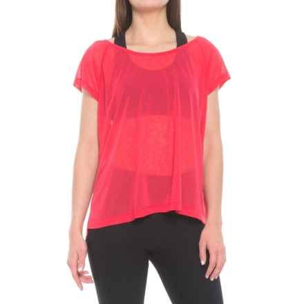 Lole Beth Shirt - Scoop Neck, Short Sleeve (For Women) in Azalea - Closeouts