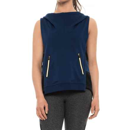 Lole Bibiana Hoodie Vest (For Women) in Mirtillo Blue - Closeouts
